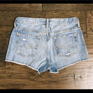 7 For All Mankind Shorts - 7FAM Distressed Destroyed Denim Cut Off Shorts